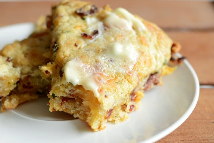 Bacon Cheddar and Chive Scones | Food | Pinterest