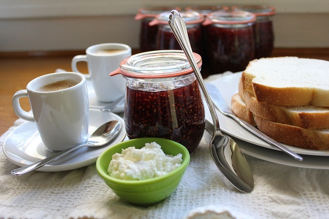 raspberry and fig jam, beautiful on a breakfast table