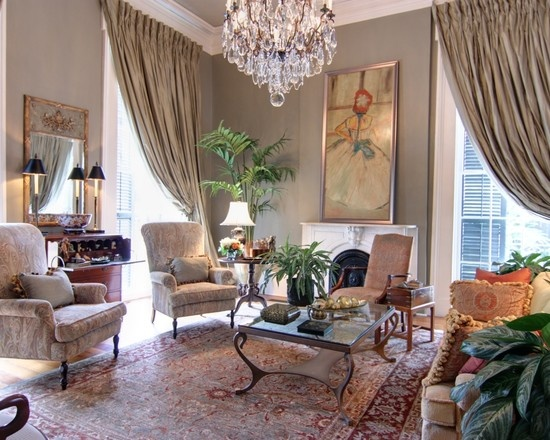 Grand New Orleans living room by Nelson Wilson Interiors.