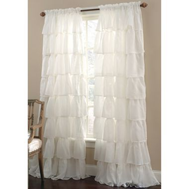 curtains too gypsy ruffled rod pocket sheer panel jcpenney 32