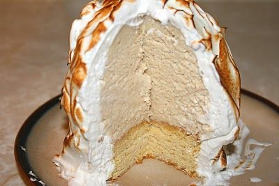 Baked Alaska (Spiced rum ice cream and brown butter pound cake)