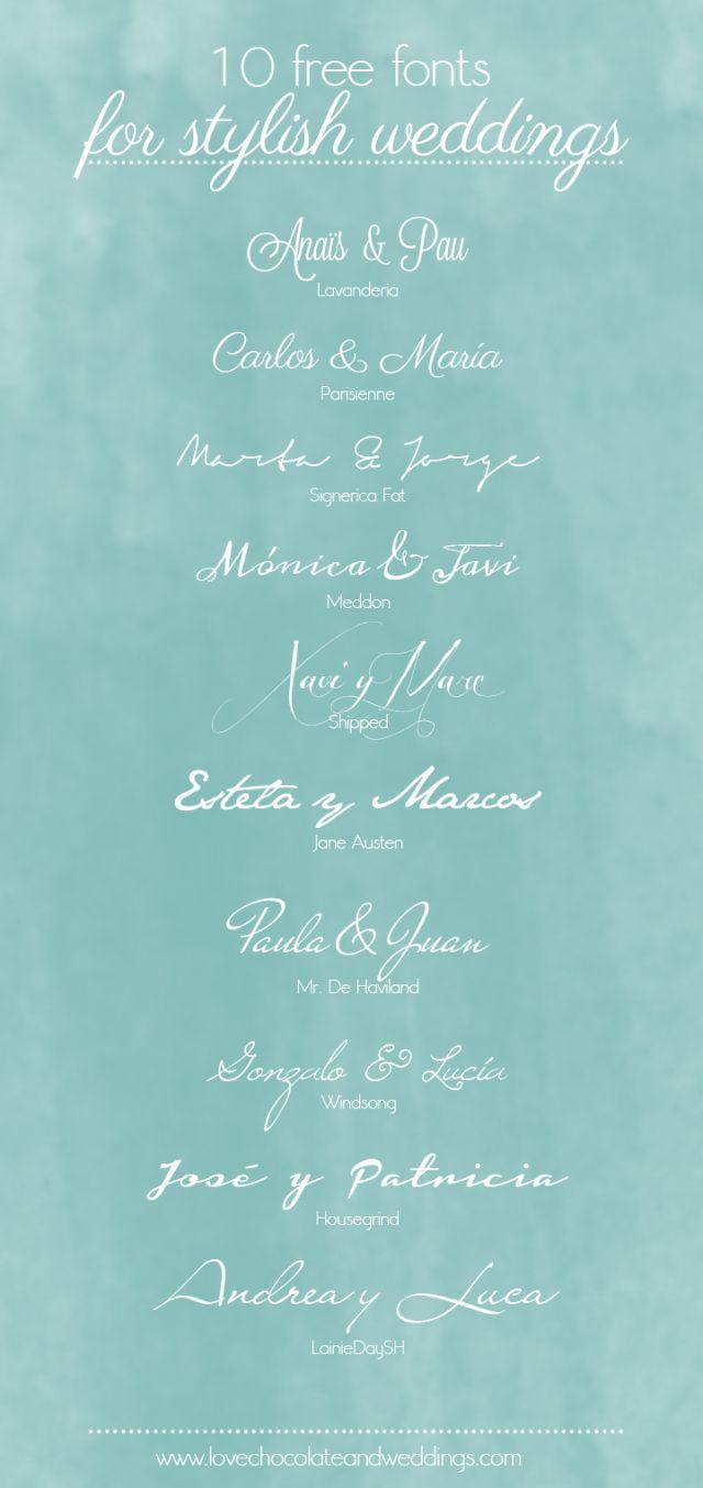 fuentes para invitaciones: