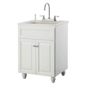 24 Utility Sink : Foremost Utility Sinks Bramlea 24 in. Laundry Vanity in White and ABS ...