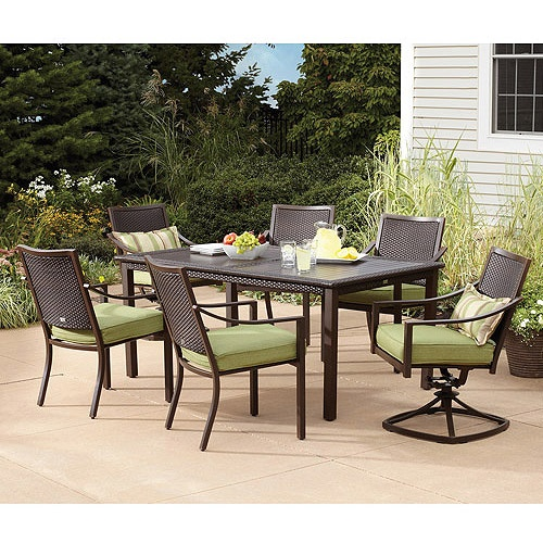 garden grove 7 piece patio dining set seats 6 gallery