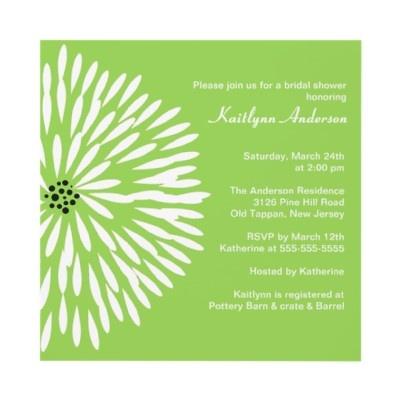 White Flower Sage Spring  Bridal Shower Invitation by celebrateitinvites
