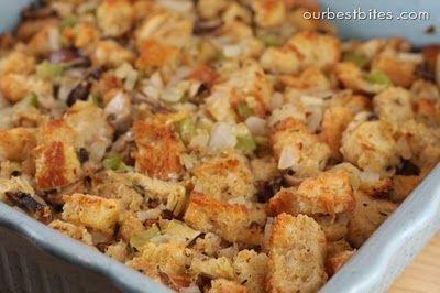 Best Stuffing recipe EVER...Artichoke Parmesan Sourdough Stuffing