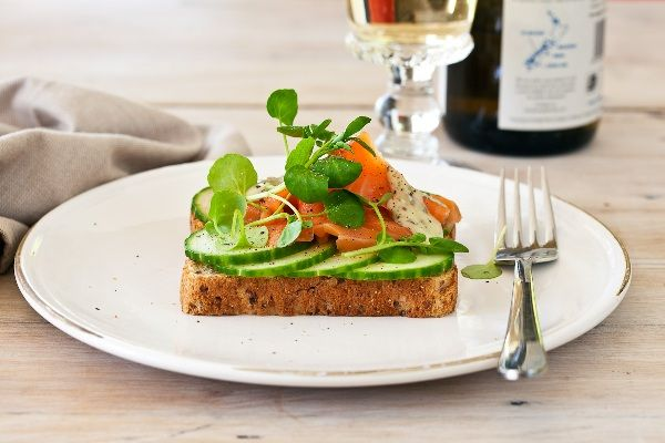 Smoked Salmon, Cucumber and Watercress Open Sandwich | Recipe