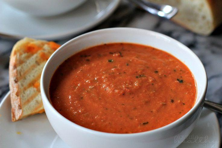 Creamy Tomato Basil Soup - For THM (E) use FF cream cheese to lower ...