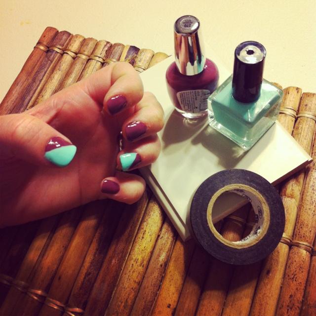 Design nails using electric tape | D I Y U B S E S S E D | Pinterest