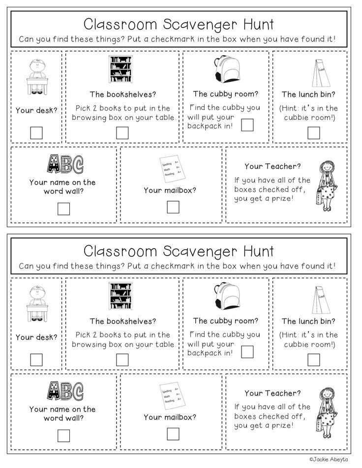 Classroom scavenger hunt | teacher ideas | Pinterest