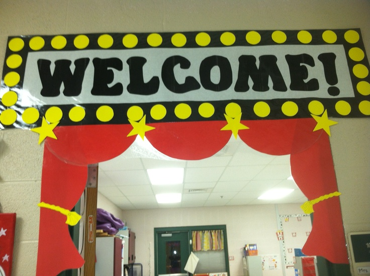 Hollywood themed doorway classroom decor pinterest for Decoration day movie