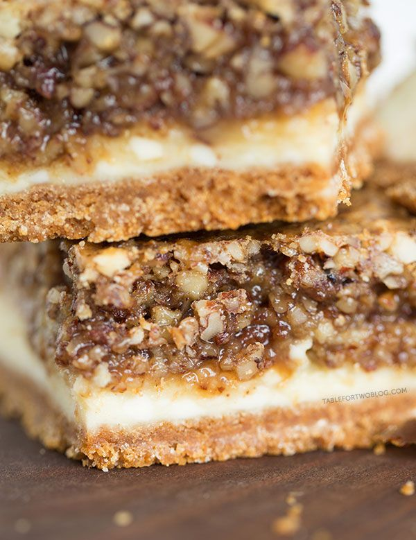 Hazelnut pecan cheesecake bars is a decadent treat perfect for sharing ...
