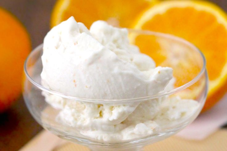 Guilt-Free Orange Creamsicle Ice Cream