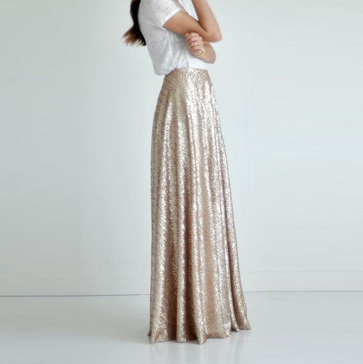 25 Gorgeous Maxi Skirt Outfit Ideas foto