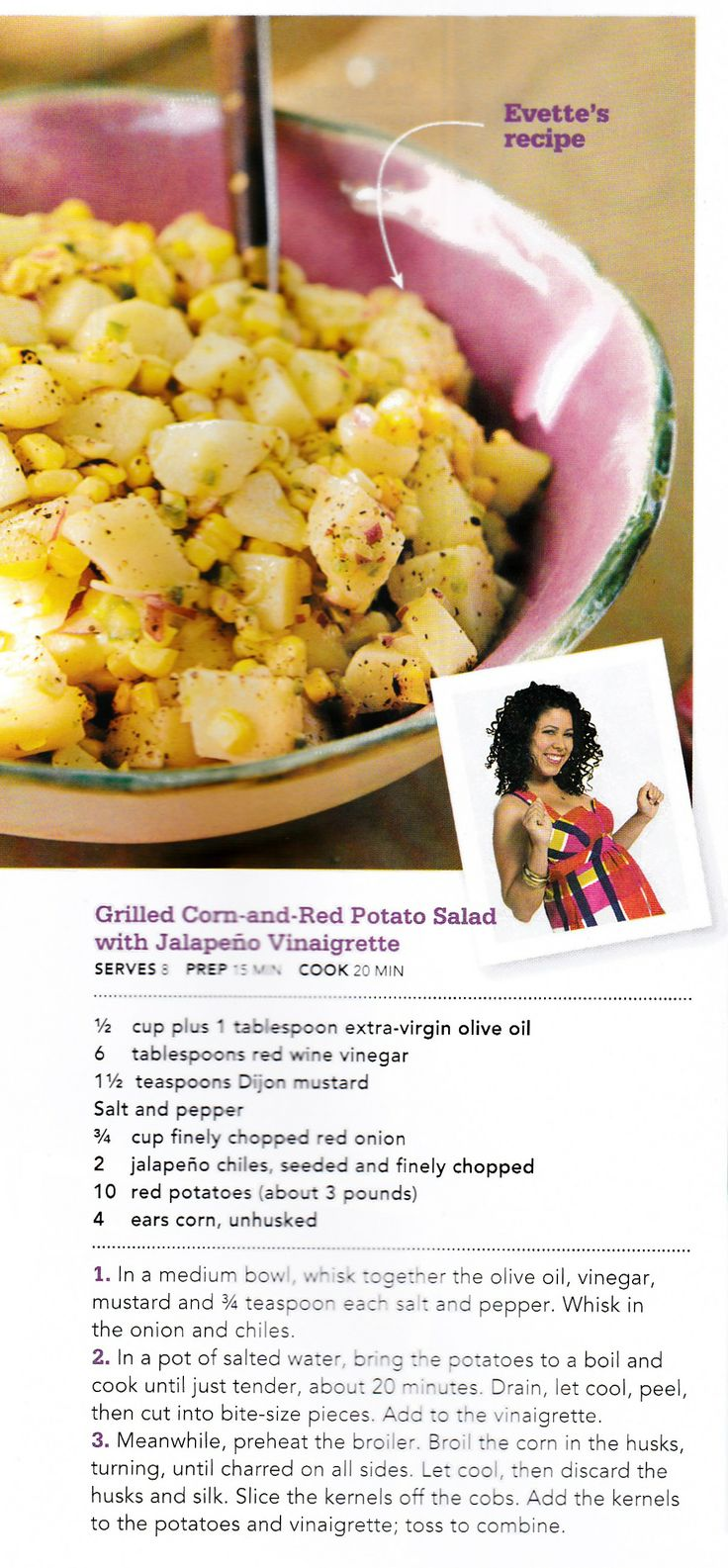 Grilled Corn-and-Red Potato Salad with Jalapeno Vinaigrette