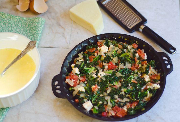 Crustless Kale & Feta Quiche With Greek Yogurt | So... Let's Hang Out
