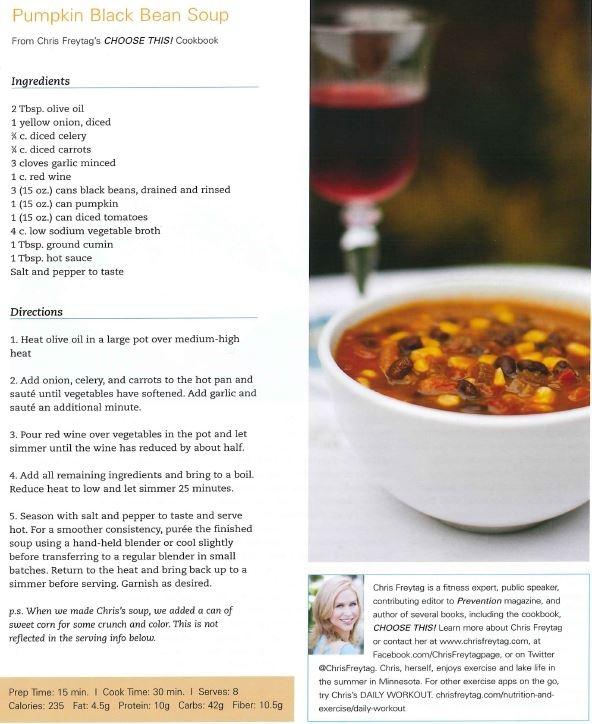 Pumpkin Black Bean Soup | Nummo... | Pinterest