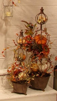 autumn topiaries