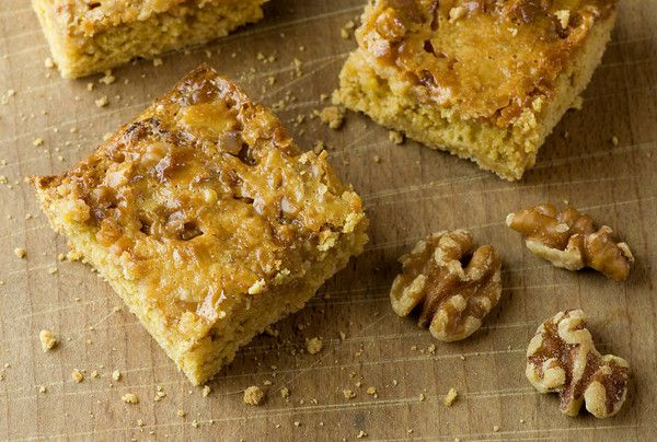 Caramel Walnut Dream Bars. They don't call 'em dream bars for nothing...