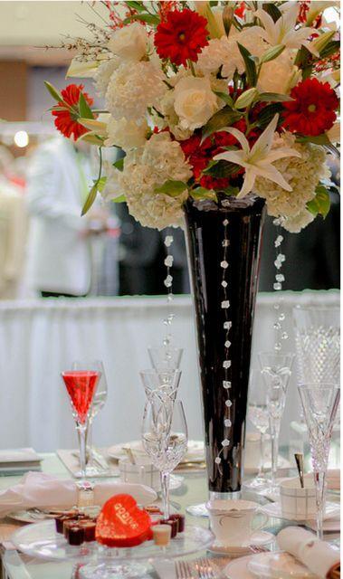 White And Red Wedding Flowers Wedding Ideas Pinterest