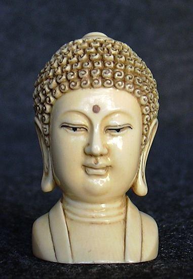 Ivory Head of the Buddha
