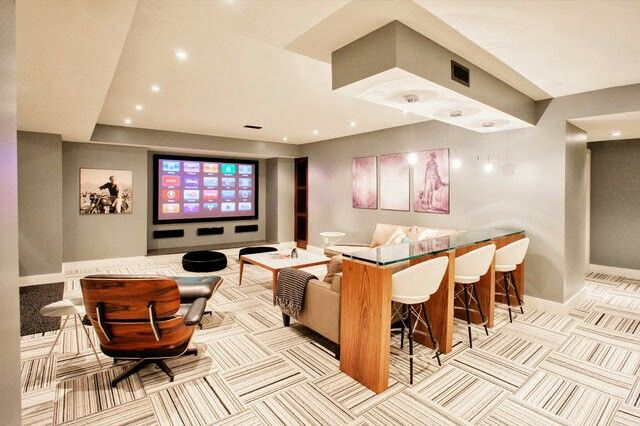 luxury basement beautiful spaces and places pinterest