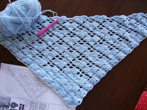 a great pattern for a simple shawl to make any size!