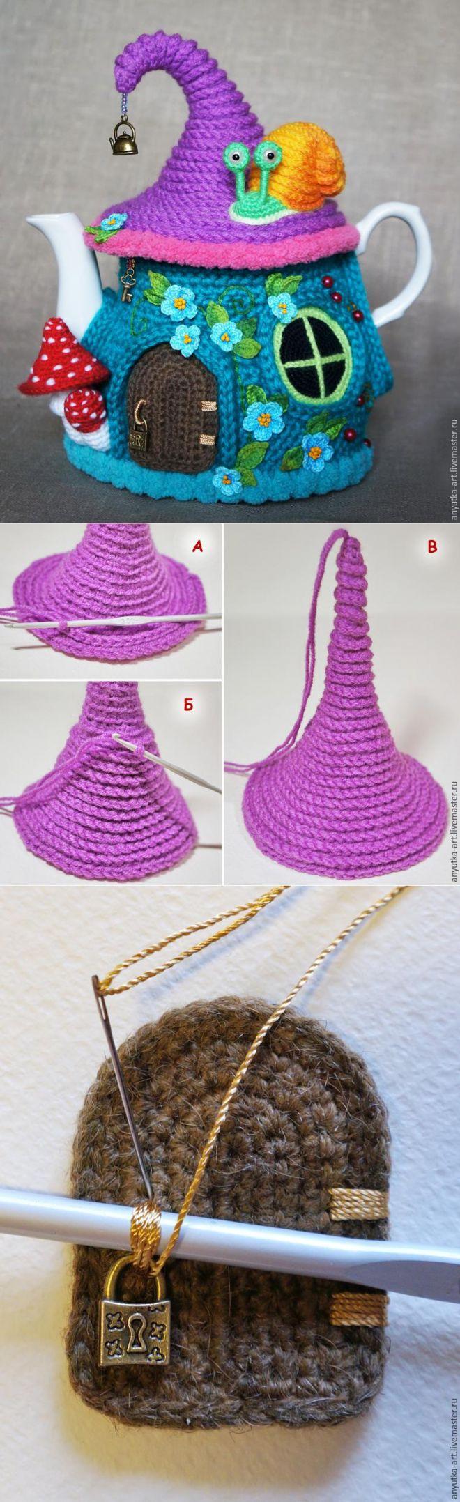 Вязание крючком сказочный домик