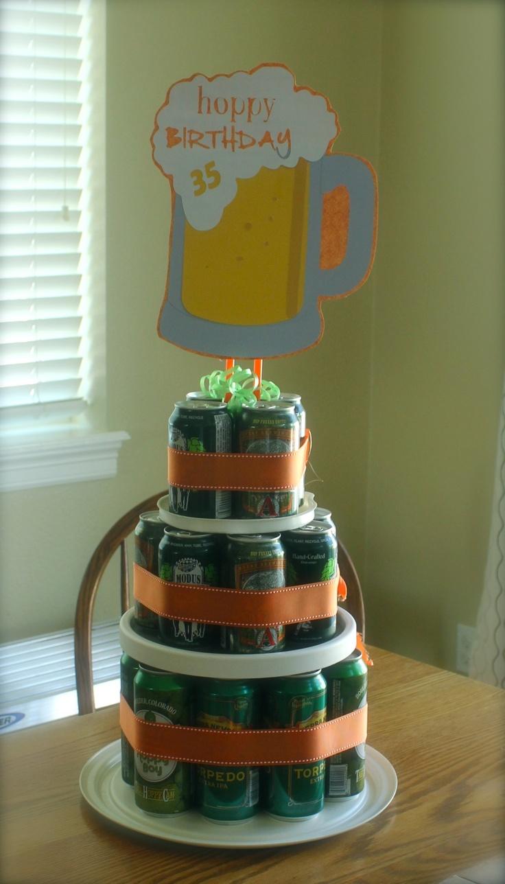 Happy birthday craft beer cake - photo#7