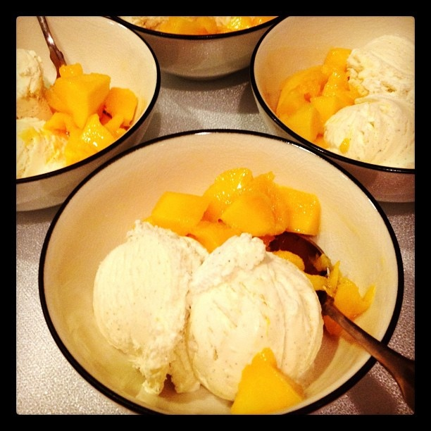 fresh mango amp french vanilla ice cream by plaintruthiness via flickr