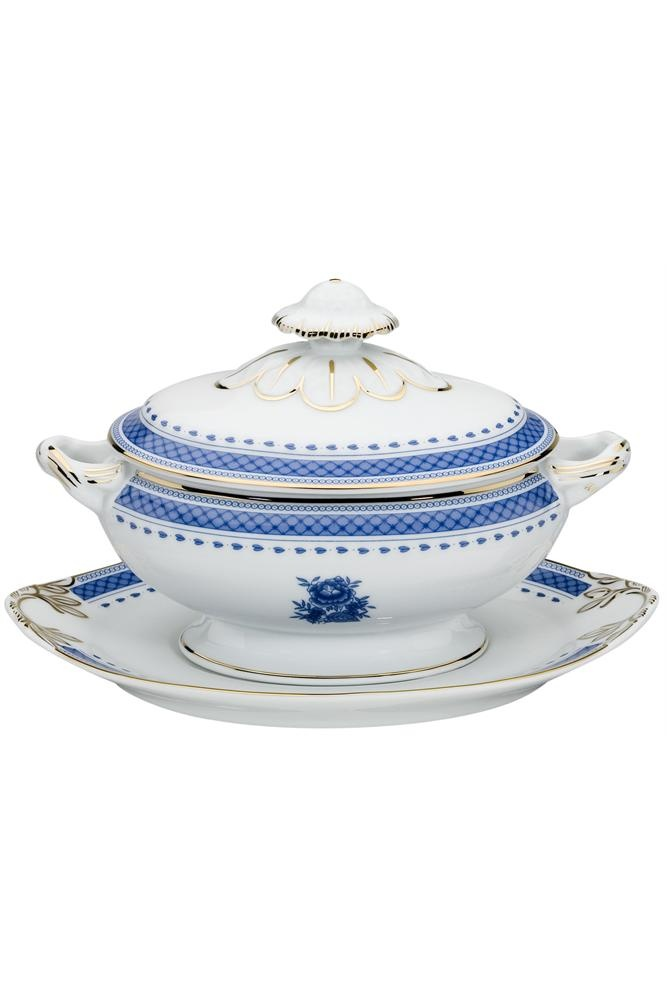 Cozinha Velha Tureen & Stand - We think $282.95 price on this fine porcelain tureen and stand is way too low... get it now before the boss finds out and demands it corrected. Our loss you gain. click image to redirect or go to MyEuroElite.com