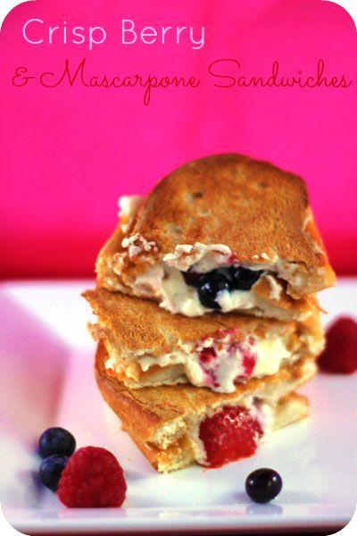 Crisp Berry & Mascarpone Sandwiches