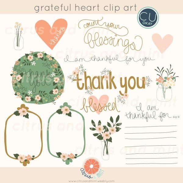 Grateful Heart Clip ArtThankful Heart Clipart