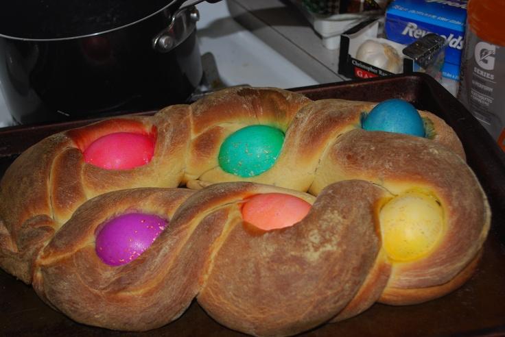 ... bread cooks. http://allrecipes.com/recipe/braided-easter-egg-bread