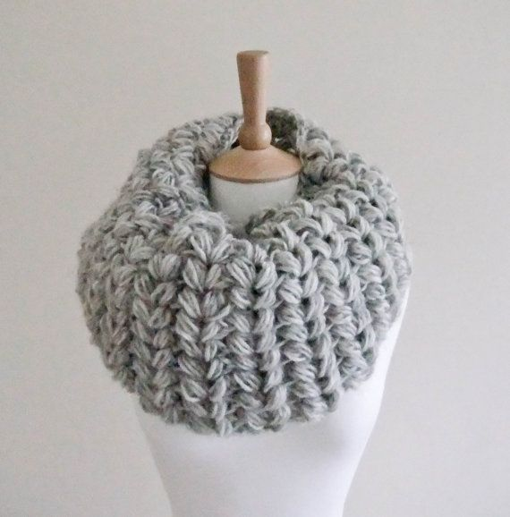 Crochet Patterns Cowl : CROCHET PATTERN instant download - Frost Bite Cowl - large grey cool ...