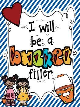 """Be A """"Bucket Filler"""" kind of friend! ***FREEBIE!!***"""