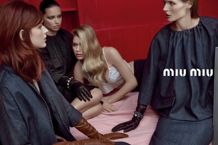 Bette Franke  Adriana Lima  Doutzen Kroes and Malgosia Bela for Miu    Bette Franke Miu Miu
