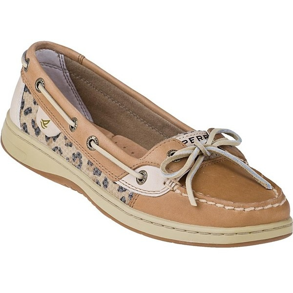 Sperry Top Sider Angelfish Boat Shoe Leopard Tan Leather