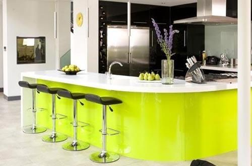 Modern Lime Green Kitchen Design Ideas  Lime Love to Lime Ludicrous