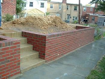 Brick Retaining Wall Front Yard Front Walkway Pinterest