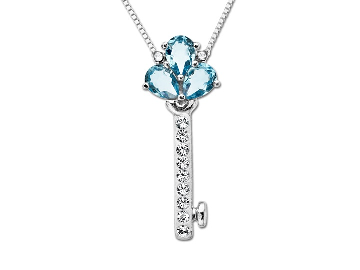 Key Pendant with 1.3 carats Swarovski Crystal: $19.99. See more at http://www.jewelry.com/deal-of-the-week.shtml
