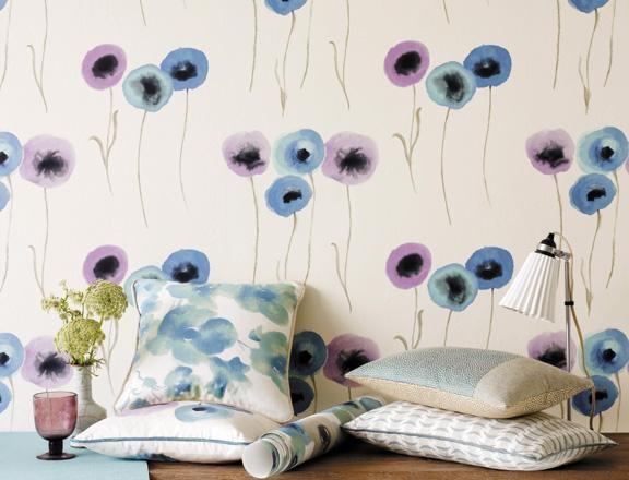 Compoppy Wallpaper Home Interior : Anthropologie Wallpaper Poppies