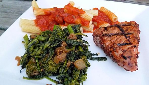 Broccoli Rabe with Caramelized Sweet Onions Recipe (Sauted Rapini)