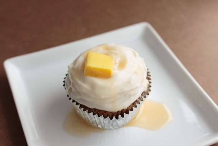 April Fool's Pumpkin Cupcakes with Cream Cheese Frosting and Salted ...