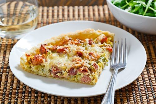 Ham and Leek Tart -make crustless-