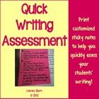 Quick Writing Assessment for Middle School and High School (Grades 6 ...