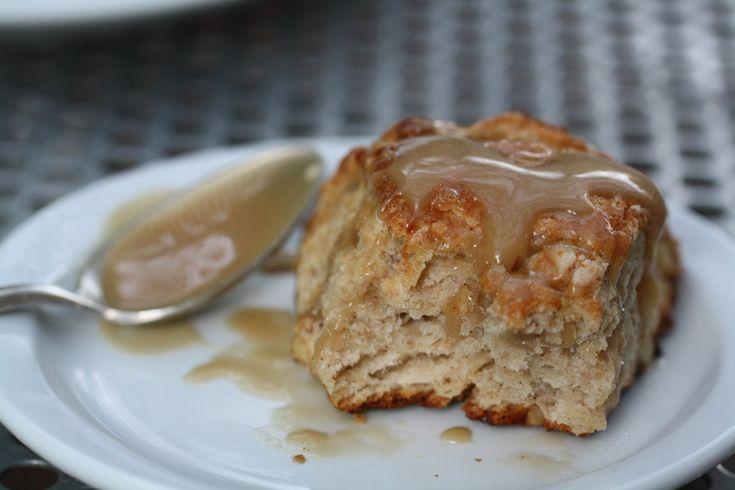 Banana Bread Scones with Brown Sugar Glaze