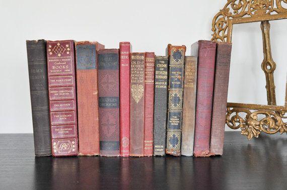 12 shabby chic decorative books for home decor wedding - Decorative books for shelves ...