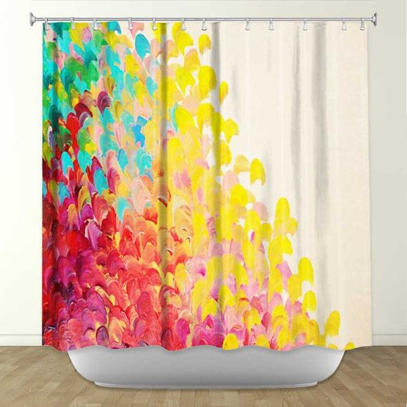 Creation in color fine art painting shower curtain Colorful shower curtains
