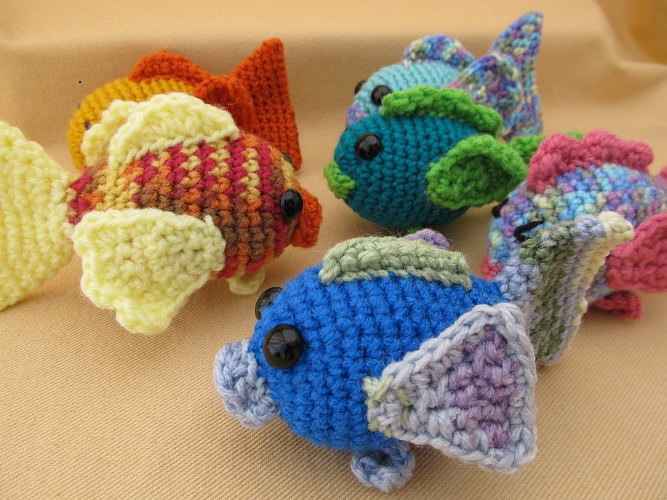 Go Fish Trio Crochet Amigurumi Pattern